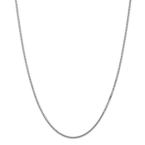 Oro bianco 14 K WG 1.50 mm box Chain