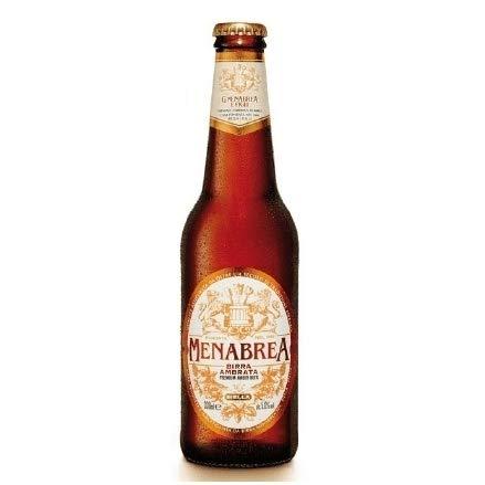 24 botellas CERVEZA MENABREA AMBRATA 330 ML.