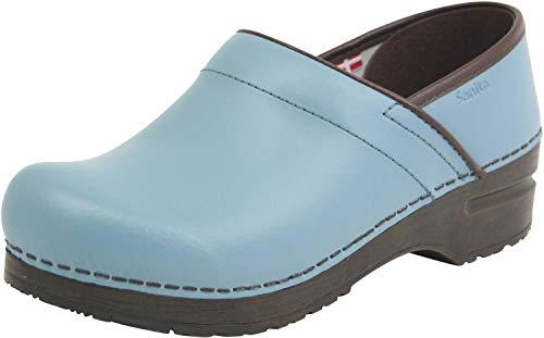 Sanita | Izabella geschlossener Clog | Original handgemacht für Damen | Anatomisch geformtes Fußbett mit weichem Schaum | Türkis | 38 EU