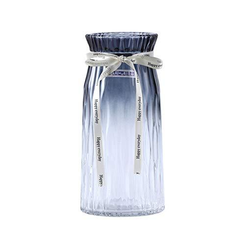CjnJX-Vases C-J-Xin Sala florero, florero de Cristal Alto Rose Tulip florero cilíndrico...