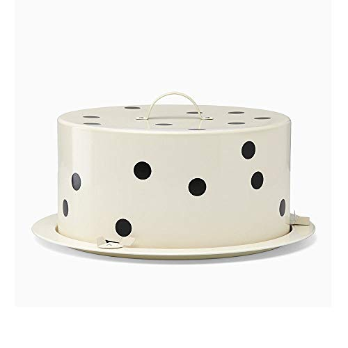 Kate Spade New York All in Good Taste Deco Dot Metal Cake Carrier