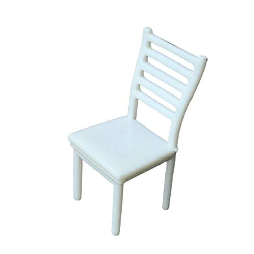 4 piezas 1:20 casa de muñecas silla en miniatura DIY mesa de arena modelo de construcción muebles 1/25 diseño de escala paisaje juguete accesorio en miniatura para decoración