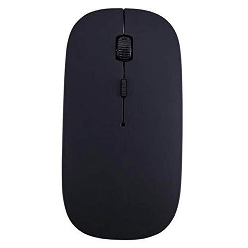 Makalon Draadloze gaming-muis, 2,4 Thunder Mengguo, voor PC, draagbaar, 2400 dpi, optisch, 4 toetsen, met USB, verstelbaar, ergonomisch voor Macbook zwart.