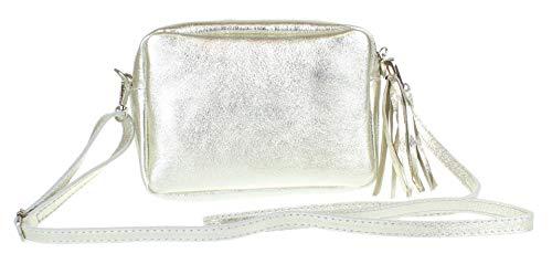 Girly Handbags Borla de la Llanura bolso crossbody (Luz de Oro)