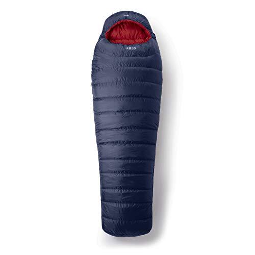 RAB Ascent 500 Blau, Daunen Schlafsack, Größe 185 cm RV Links - Farbe Ink