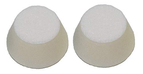Proxxon Profi-Polierschwämme (ø 50 mm, Höhe 25 mm, 2 Stück, konische Form, Härtegrad hart, Schwämme zum Aufbringen der Polieremulsion auf Lack-und Metallflächen) 29096
