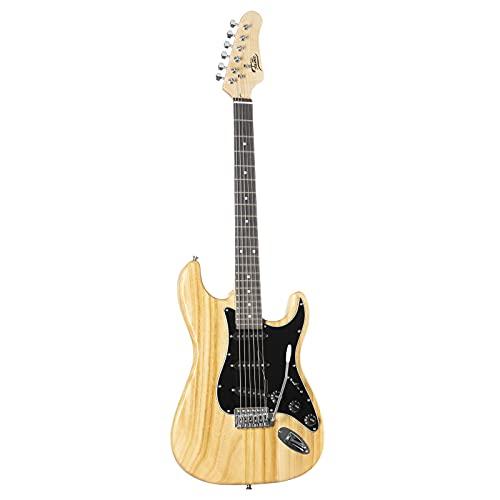 Fame SE Series ST Special Natural E-Gitarre mit Paulownia-Korpus, Single Coil Tonabnehmern und Natural Finish