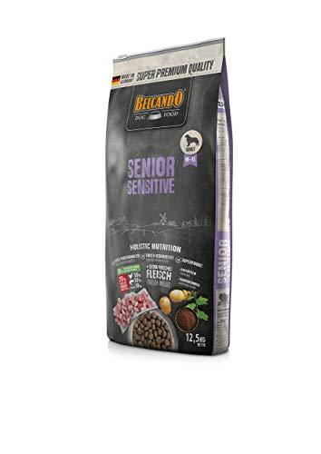 Belcando Senior Sensitive Hundefutter | Trockenfutter für ältere & empfindliche Hunde | Alleinfuttermittel für ältere Hunde Aller Rassen (12,5 kg)