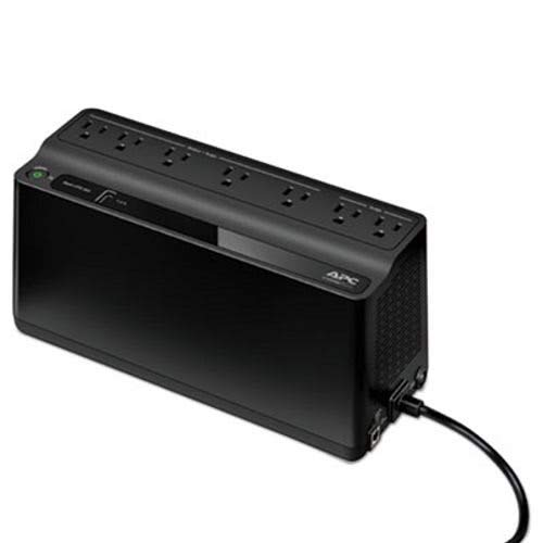 APC Smart-UPS 600 VA Battery Backup System, 7 Outlets, 490 J (APWBE600M1)