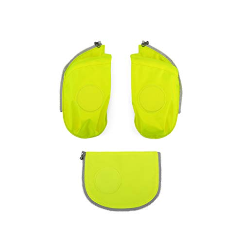 ergobag cubo Seitentaschen Zip-Set - Seitentaschen-Set, 3-teilig - Gelb - Gelb
