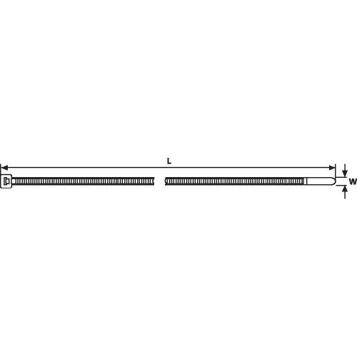 HellermannTyton 111-03570 T30LL-W-BK-C1 Kabelbinder 290 mm 3.50 mm Schwarz Witterungsstabil 100 St.