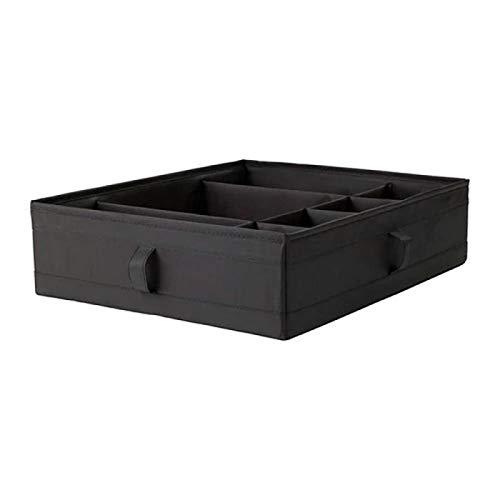 JINGMIAO Caja de Almacenamiento celosía Oxford Bubner Caja de Almacenamiento Todo Tipo de Ropa y Ropa Caja de Acabado Tipo cajón de Ropa Interior Bolsa de Almacenamiento Grande