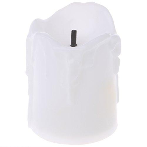 Exing Bougies Chauffe-Plat à LED en Plastique Fonctionnement à Piles Bougies Chauffe-Plat Festival Mariage