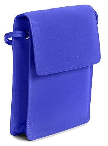 SADDLER Bolso de viaje de cuero protegido RFID para mujer con cuerpo cruzado extraíble titular de la tarjeta de crédito   Bolso de la honda del diseñador, morado (Ultraviolet), Talla única