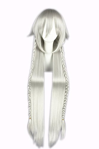 Quibine 100cm Perruque Longue Manga Anime Cosplay Wig Synthétique Cheveux