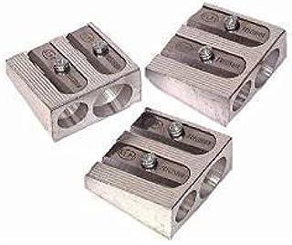 3 PACK: KUM 1040501 2-hole Pencil Sharpener Magnesium Alloy Wedge Profile