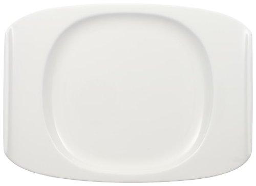 Villeroy & Boch Urban Nature Frühstücksteller, 27x19,5 cm, Premium Porzellan, Weiß