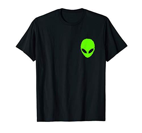 Alien Shirt Green Alien Pocket Tee Cool Ufo Alien Gift T Shirt