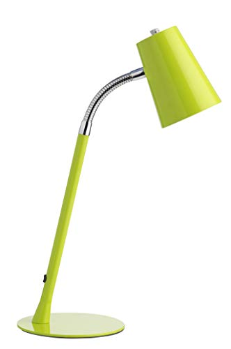 Unilux 400093694 Lampada Flexio 2 da Tavolo a LED 5 W E14, Moderna, Classe Energetica A+, per Cameretta, Ufficio, Scrivania, Colore Verde