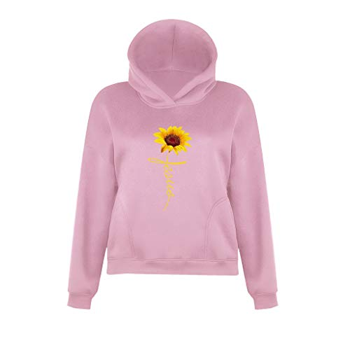 Check Out This T Shirts for Women,Women Fashion Casual Sun Flower Printed Long Sleeve Hoodie Sweater...