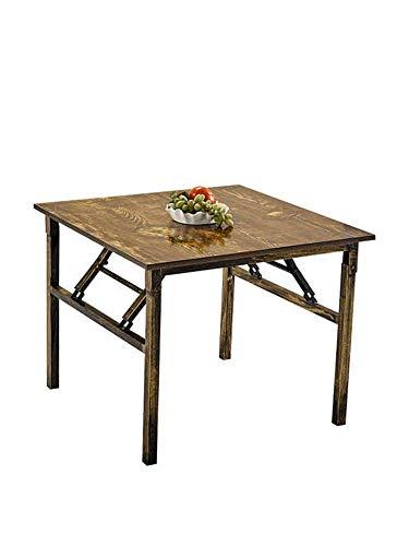 AOLI Klapptisch Portable multifunktionale Esstisch/Platz Picknick-Tisch/Lernen Desk/Beweglich, 60Cmx60Cmx35Cm,Antiquität,60cm * 60cm * 35cm