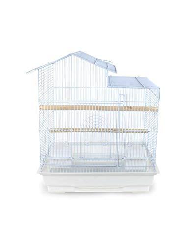 Pet's Solution Gabbia per Uccelli inseparabili canarini cocorite in Metallo Bianca Nera (Bianco)