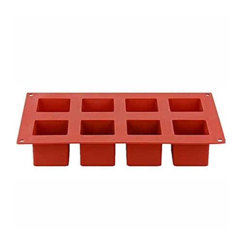 CHENGHAN Molde de Silicona Cubo de Hielo Bandeja Cuadrado Molde de Chocolate Jabón Jabón Candy Maker (Color : 8 Cups)