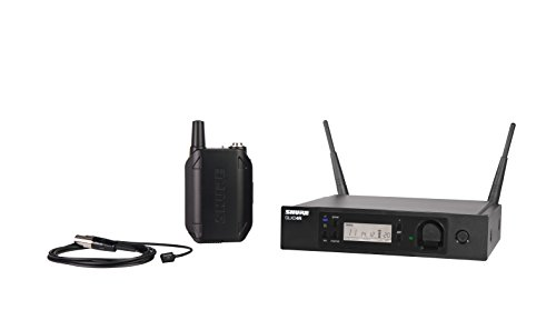 Shure GLXD14R/93 Rechargeable Digital Wireless Microphone System for Presenters with GLXD4R Rack Mount Receiver, GLXD1 Bodypack Transmitter and WL93 Omnidirectional Miniature Lavalier Mic