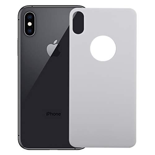 H-HX Back-schermbescherming, 9H 3D Full Coverage gehard glas achterkant scherm film voor iPhone X / XS (zwart), wit