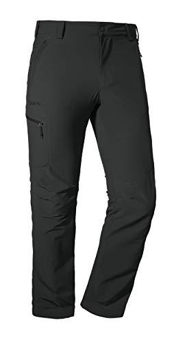 Schöffel Herren Pants Folkstone komfortable und leichte Wanderhose mit Stretch-Material, robuste Outdoor Hose mit sportlichem Schnitt, asphalt, 58