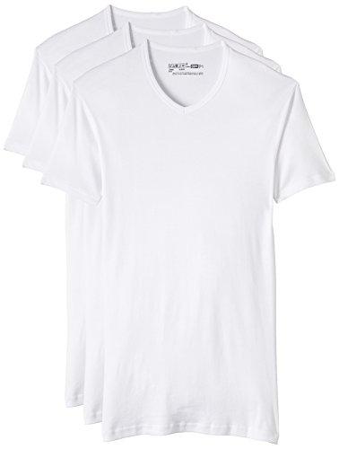 Dim Eco Dim Pack 3 Camisetas para Hombre, Blanco, M