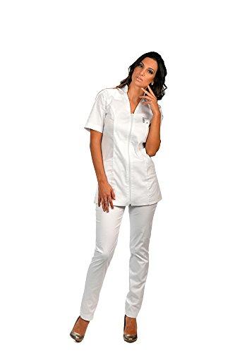 FASHION COMMUNICATE Damen Arbeitskleid für Kosmetikerin und Friseur