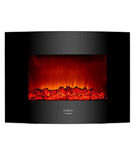 Cecotec Chimenea electrica Decorativa de Pared Ready Warm 2200 Curved Flames