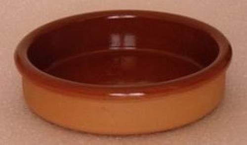 Cazuela de barro terracota, 13 cm de diámetro, 6 unidades