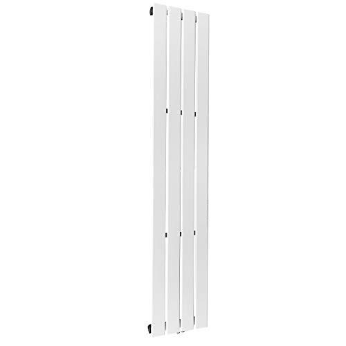 Radiador de diseño vertical, de una o doble capa, en tamaño a elegir, conexión central, calefacción central, color blanco, panel radiador, radiador plano, radiador de pared (1800 x 300 mm, una capa)