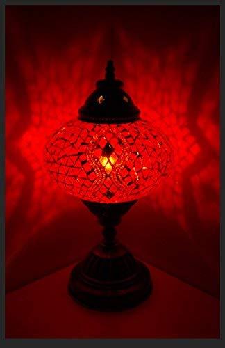 Mosaik lampe Mosaiklampe Mosaik - Tischlampe L Stehlampe orientalische lampe Rot Samarkand-Lights