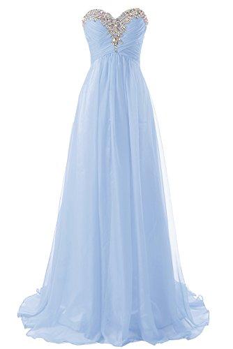 Abendkleider Ballkleider Lang Damen Brautjungfernkleid Festkleider Chiffon A Linie Lavendel EUR56