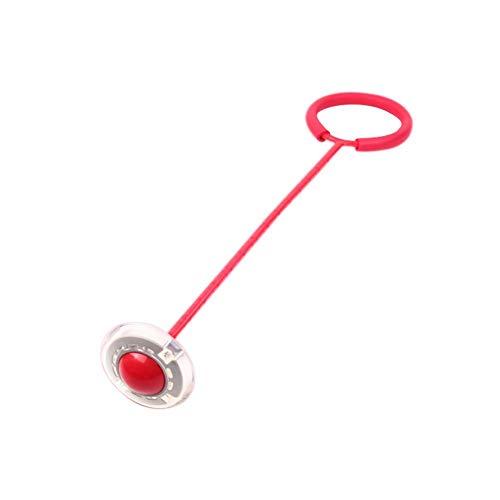 Peonza de pie, peonza con contador, bola de saltos, juguete de baile parpadeante, balón deportivo, balón hinchable, bola de esquí, bola de salto de golpe (1 unidad) rojo