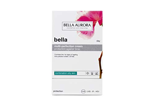Bella Aurora Crema Hidratante Facial de Día 40+ Años Piel Mixta-Grasa SPF 20, 50 ml | Anti-Edad | Anti-Manchas | Bella