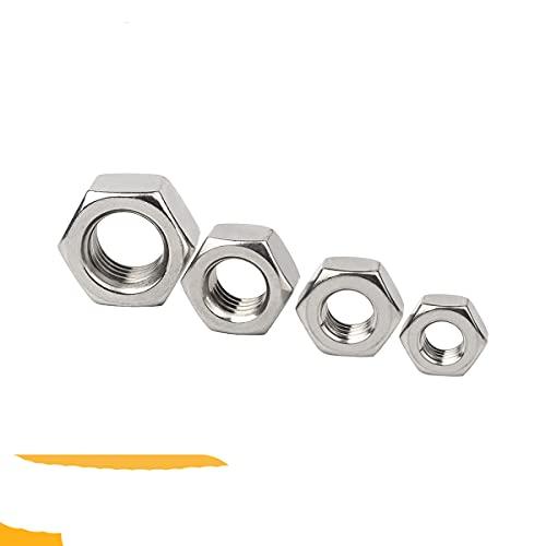 Tuerca hexagonal hexagonal de acero inoxidable 304 DIN934 para M1 M1.2 M1.4 M1.6 M2 M2.5 M3 M3.5 M4 M5 M6 M8 M10 M12 M16 M18 M20 M24 Tornillo Perno-M3.5 x 25Piezas