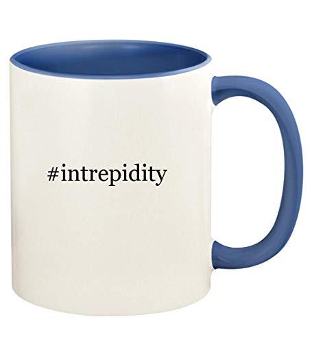 #intrepidity - 11oz Hashtag Ceramic Colored Handle and Inside Coffee Mug Cup, Cambridge Blue