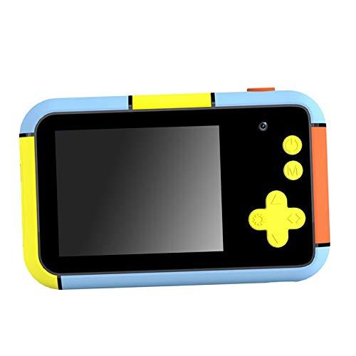 Non-brand Cámara para Niños Regalos de Cumpleaños Juguetes 1080P 2.4 Pulgadas LCD Pantalla Azul Cámaras Digitales para Niños Soporte para Tarjeta SD de 32GB (No