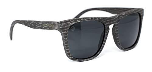 Óculos de Sol Calábria, Mafia Wood Exclusive Wear, Adulto Unissex, Cinza, G