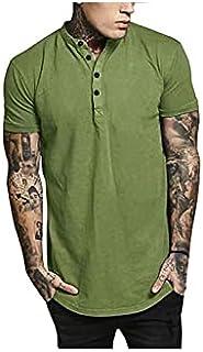 Nbhjzbcsmdx Mens Cotton T shirts. Men's Fashion Clothing Summer Tops Short Sleeve V-neck Shirt T Shirt Men Casual Outwear ...