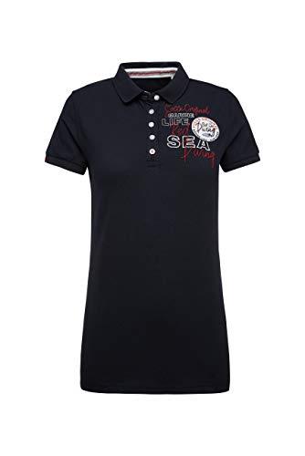 SOCCX Damen Poloshirt aus Pikee mit Logo-Applikationen