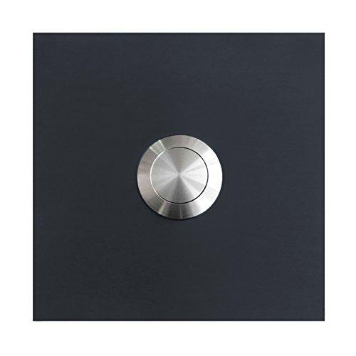 MOCAVI RING 115 Edelstahl-Design-Klingel anthrazit-grau seidenglanz RAL 7016 quadratisch, Klingeltaster