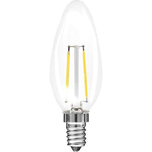 MÜLLER-LICHT Retro-LED Lampe Kerzenform ersetzt 15 W, Glas, E14, 1.5 W, weiß, 1er Set