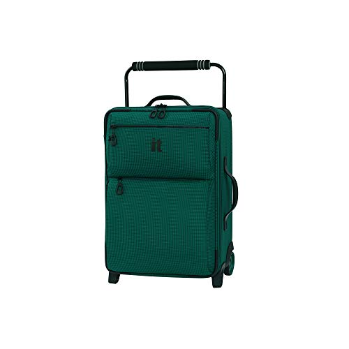 it luggage World's Lightest Los Angeles Softside Upright, Alpine Green, Carry-On 22-Inch