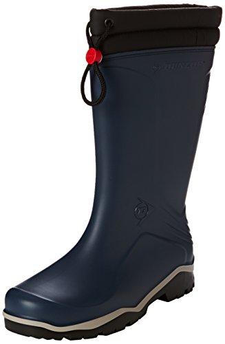 Dunlop Blizzard gefütterte Herren Gummistiefel, Blau (Blue/Grey/Black), 37 EU