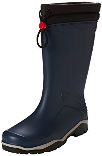 Dunlop Blizzard gefütterte Herren Gummistiefel, Blau (Blue/Grey/Black), 42 EU